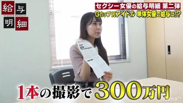 1本300万円の出演料のAV女優永瀬みなも4